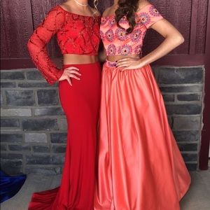 Coral Colored Prom Dress